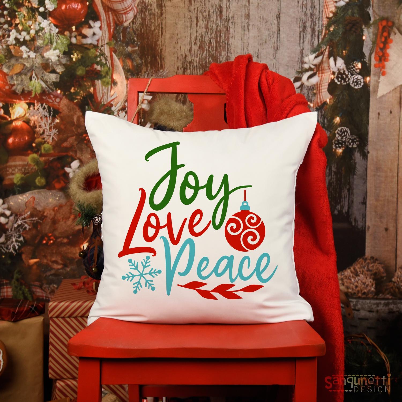 Joy Love Peace SVG , Christmas cutting file example image 2