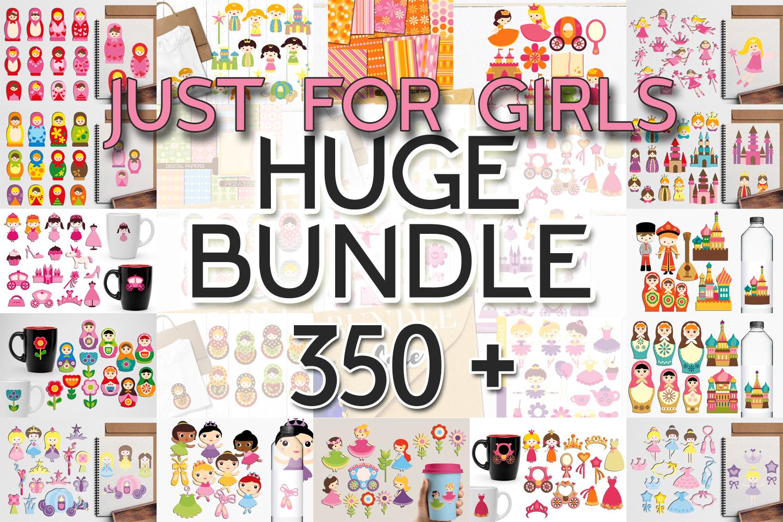 Just For Girls Clip Art Illustrations Huge Bundle example image 1