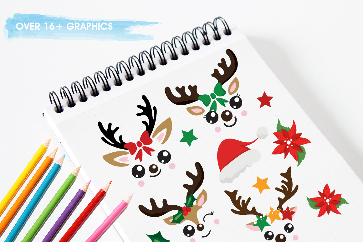 Reindeer icons graphics and illustrations example image 3