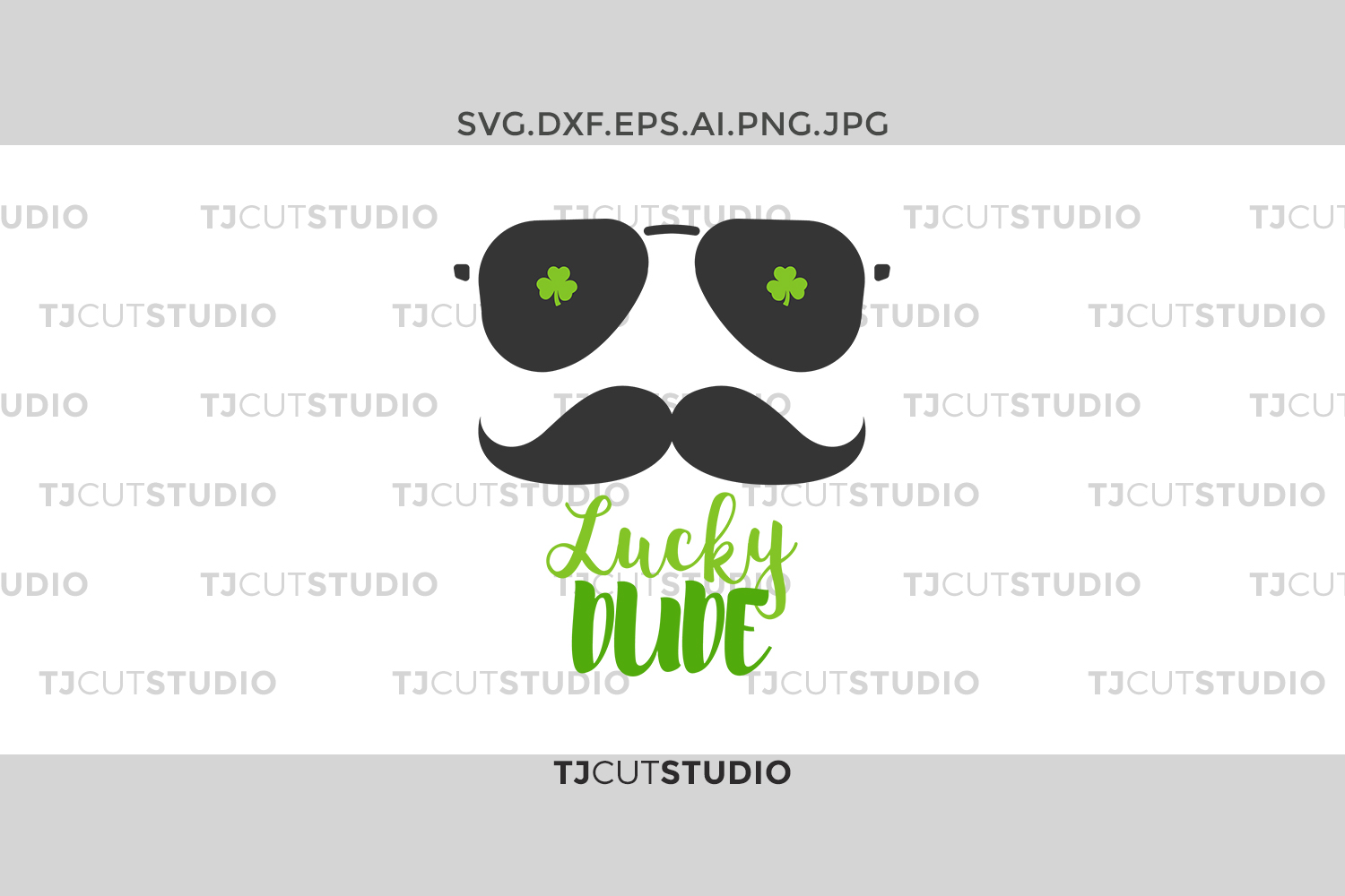 Lucky Dude svg, shamrock svg, Lucky svg,st patricks day svg,saint patricks day svg,st patrick dude,Svg Files for Silhouette Cameo or Cricut. example image 1