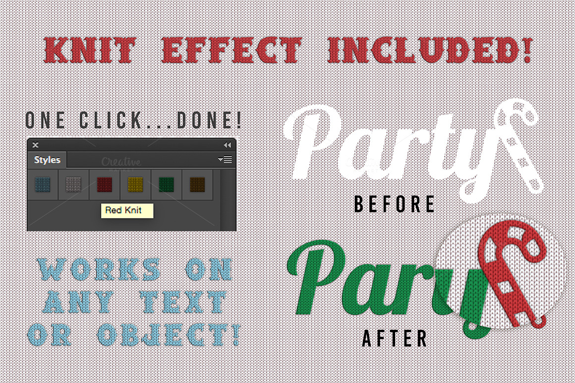 Christmas Knit Flyer Text Effect Creator example image 4