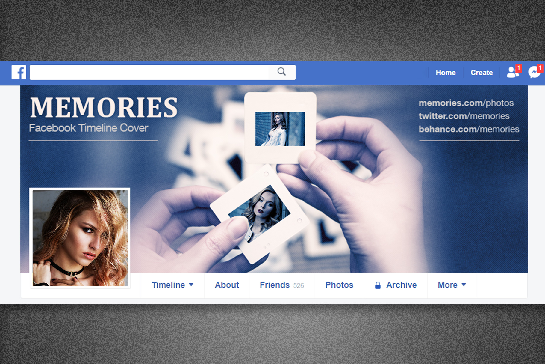 Memories Facebook Timeline Cover example image 7