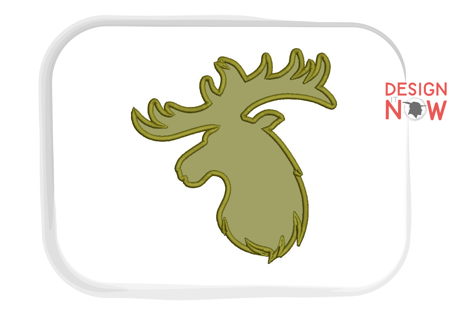 Deer Applique Embroidery Design, Wild Embroidery Art example image 3