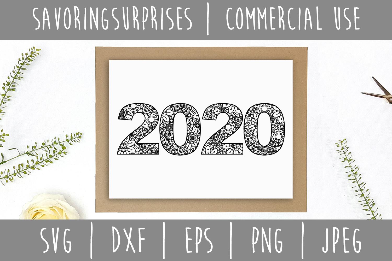 2020 Mandala Zentangle SVG, DXF, EPS, PNG JPEG example image 2