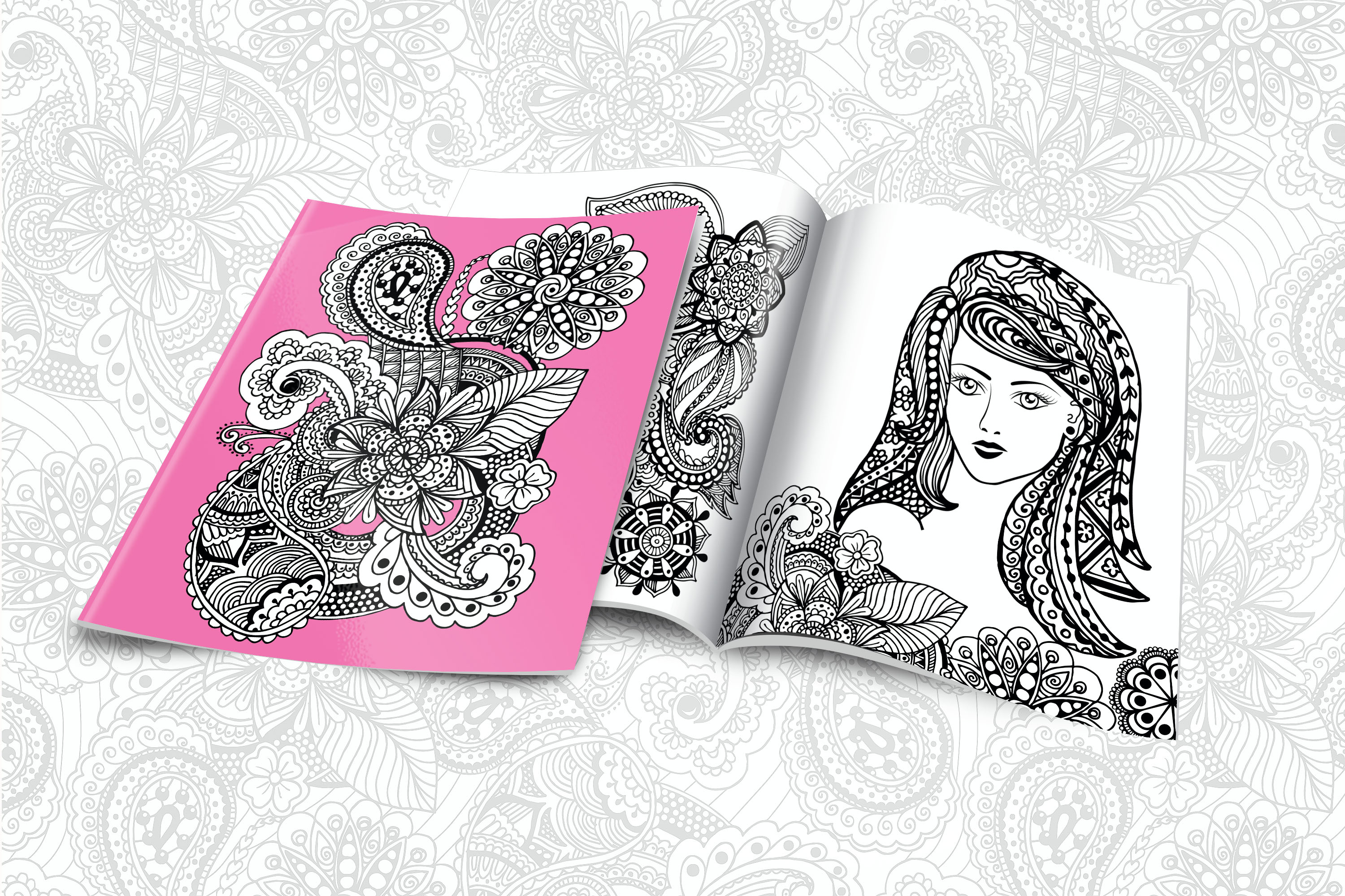 Floral Zentangle example image 2