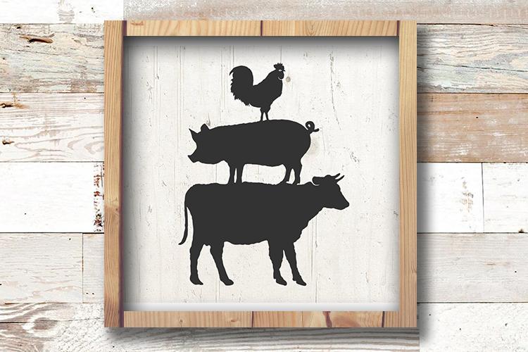 Farm Animal SVG - Farm SVG - Farm Animals Svg - Farmhouse example image 1