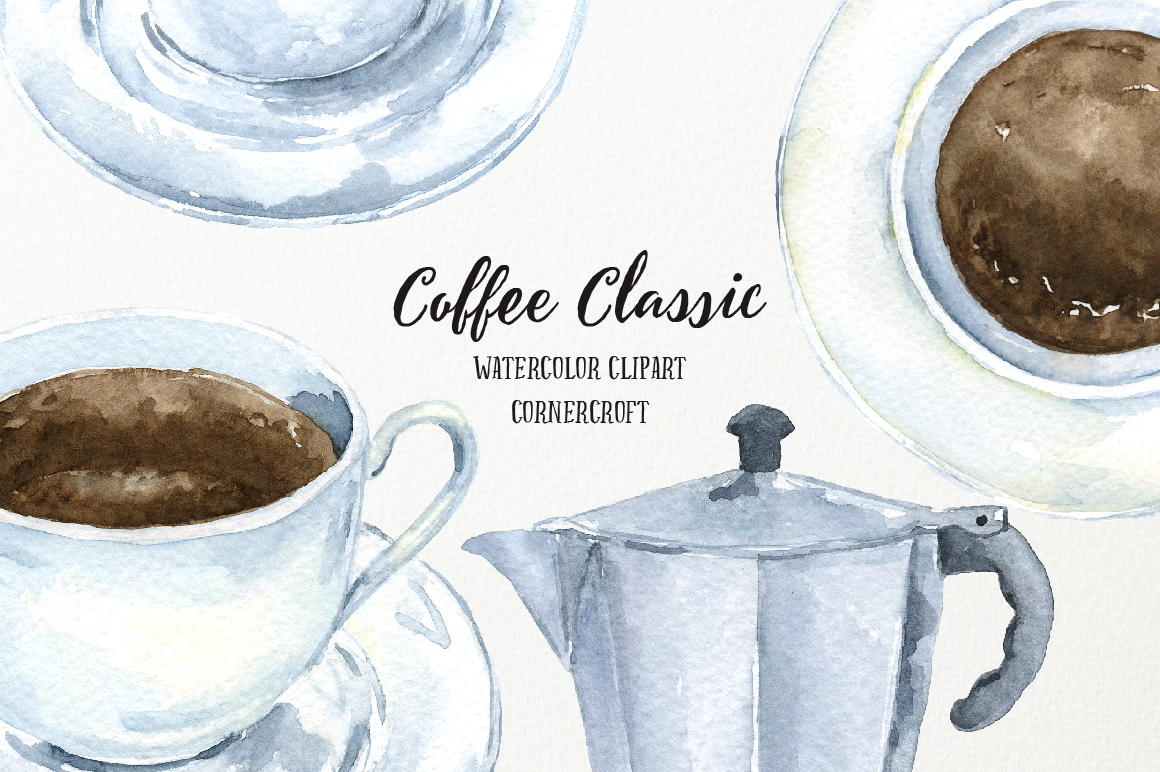 Watercolor Coffee Classic example image 2