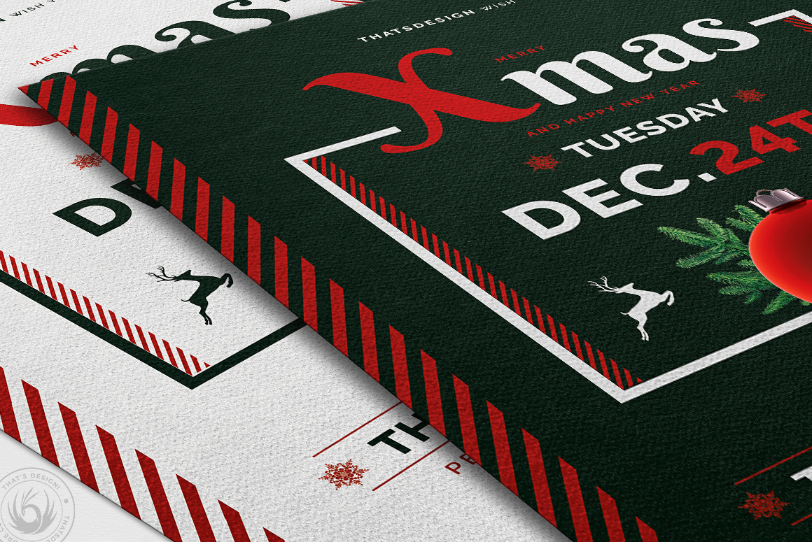 Christmas Eve Flyer Template V12 example image 6