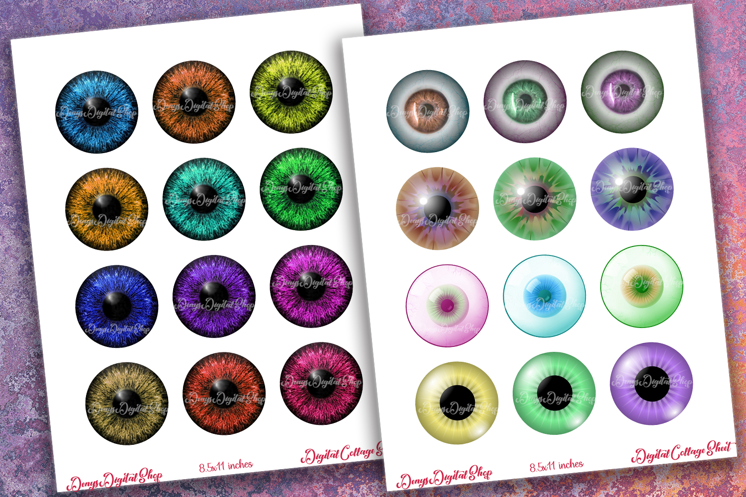 photograph about Printable Eyes referred to as Vibrant Eyes Electronic Collage Sheet,Eyes Printable,Pendants