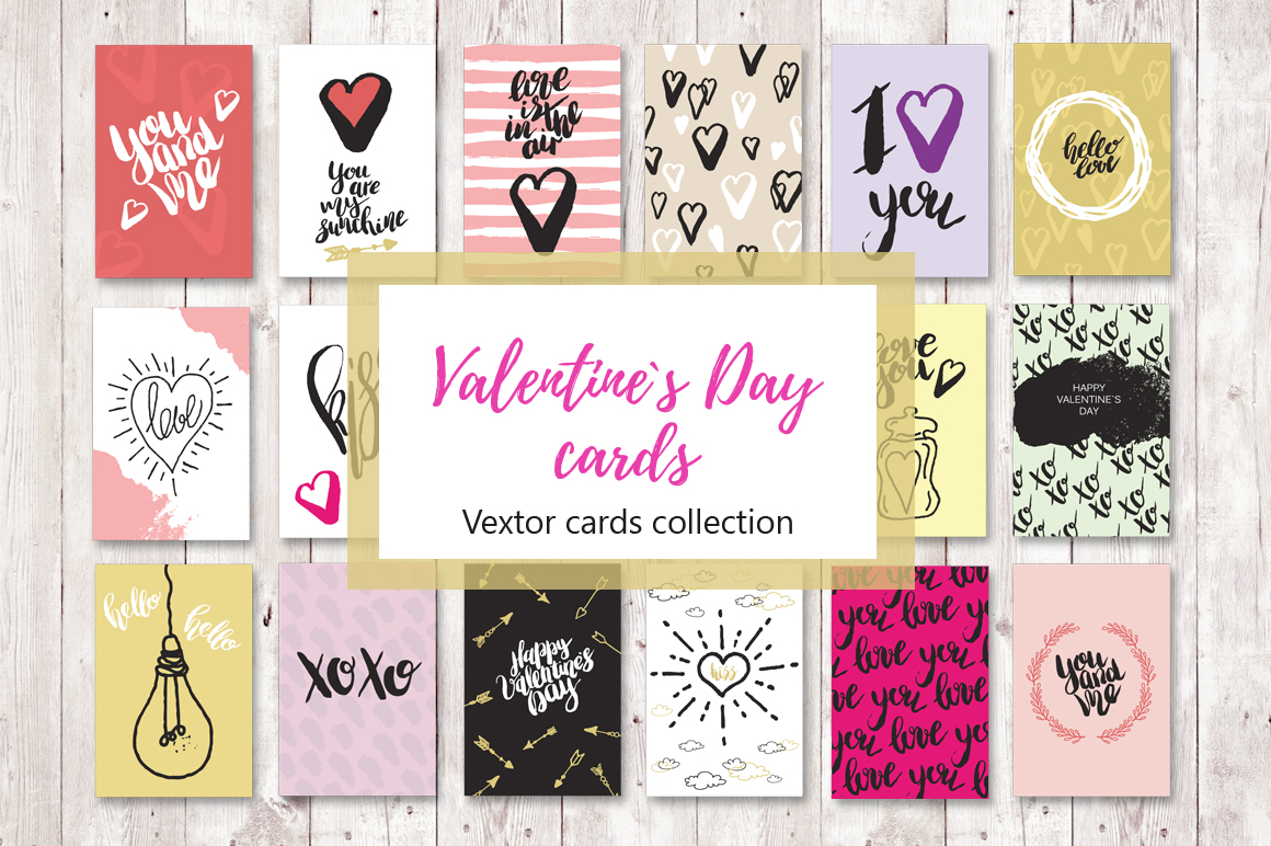 Set of 18 Love greeting cards example image 1