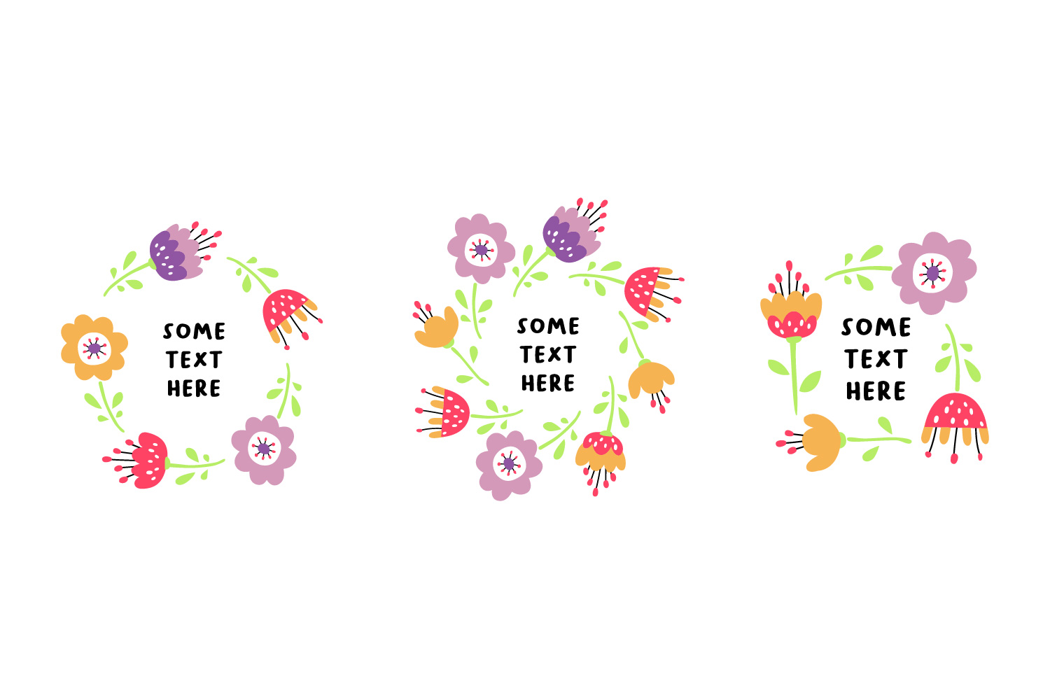 Flower design collection svg example image 2
