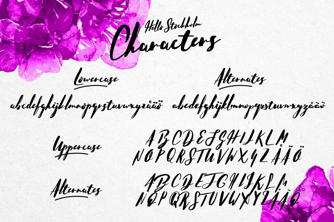 Hello Stockholm - Handmade Typeface example image 3