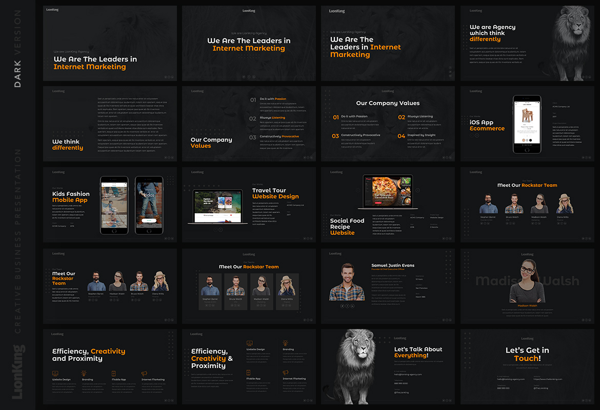 LionKing - Business Keynote Template example image 2