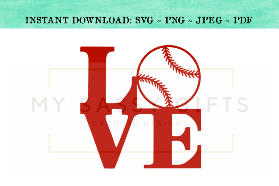 Love With Baseball SVG example image 1