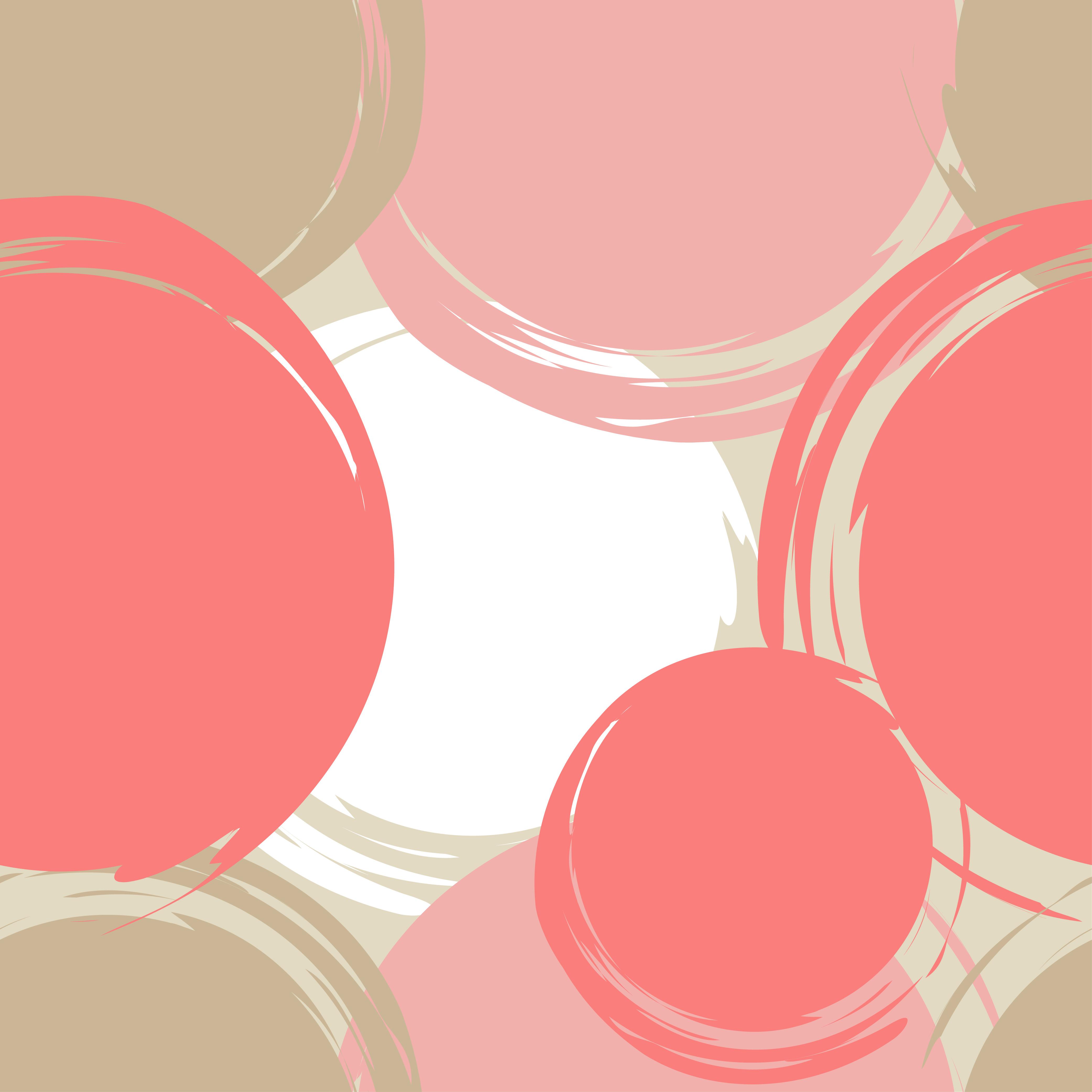 Set of 6 Polka dot seamless pattern. Brushwork.  example image 2