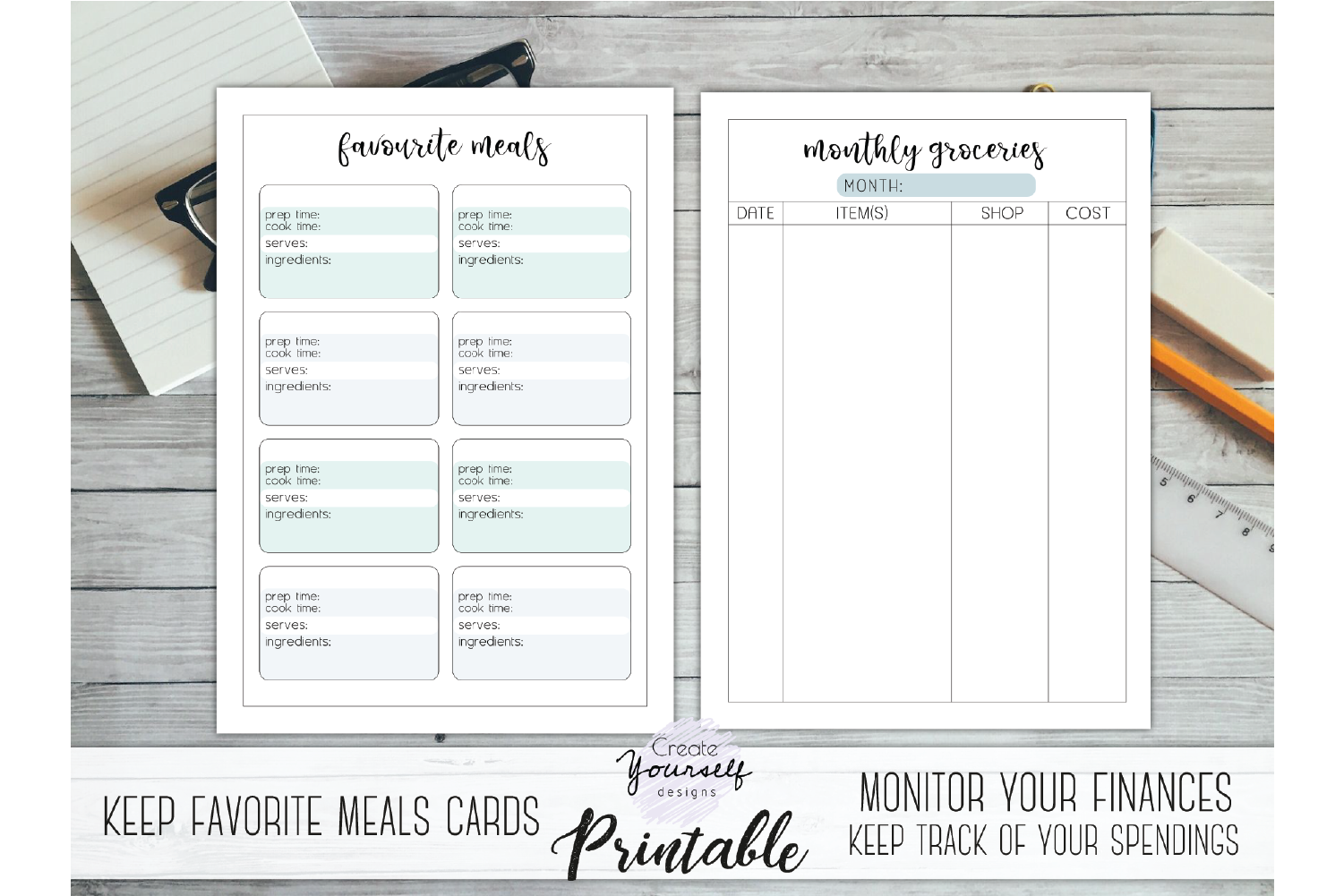 graphic regarding Deal a Meal Cards Printable called Comprehensive evening meal planner - printable nutrients planner web pages