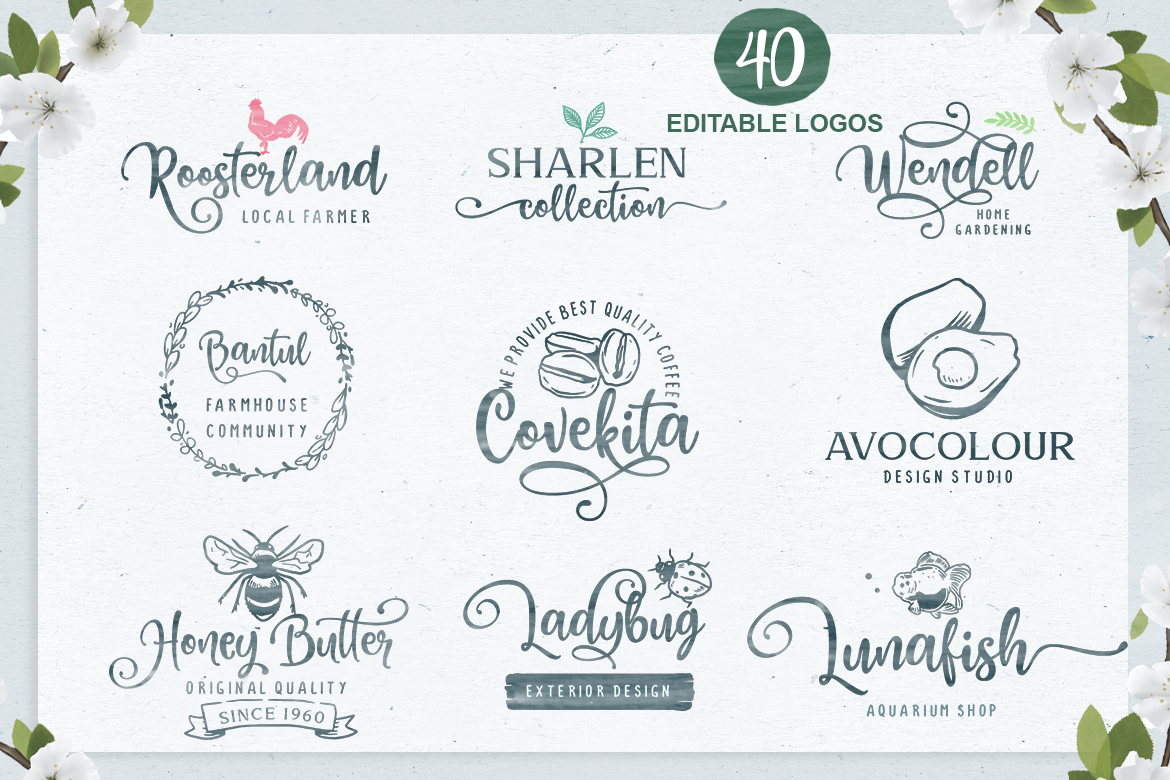 Honey Butter Font Trio & 260 Vectors example image 3