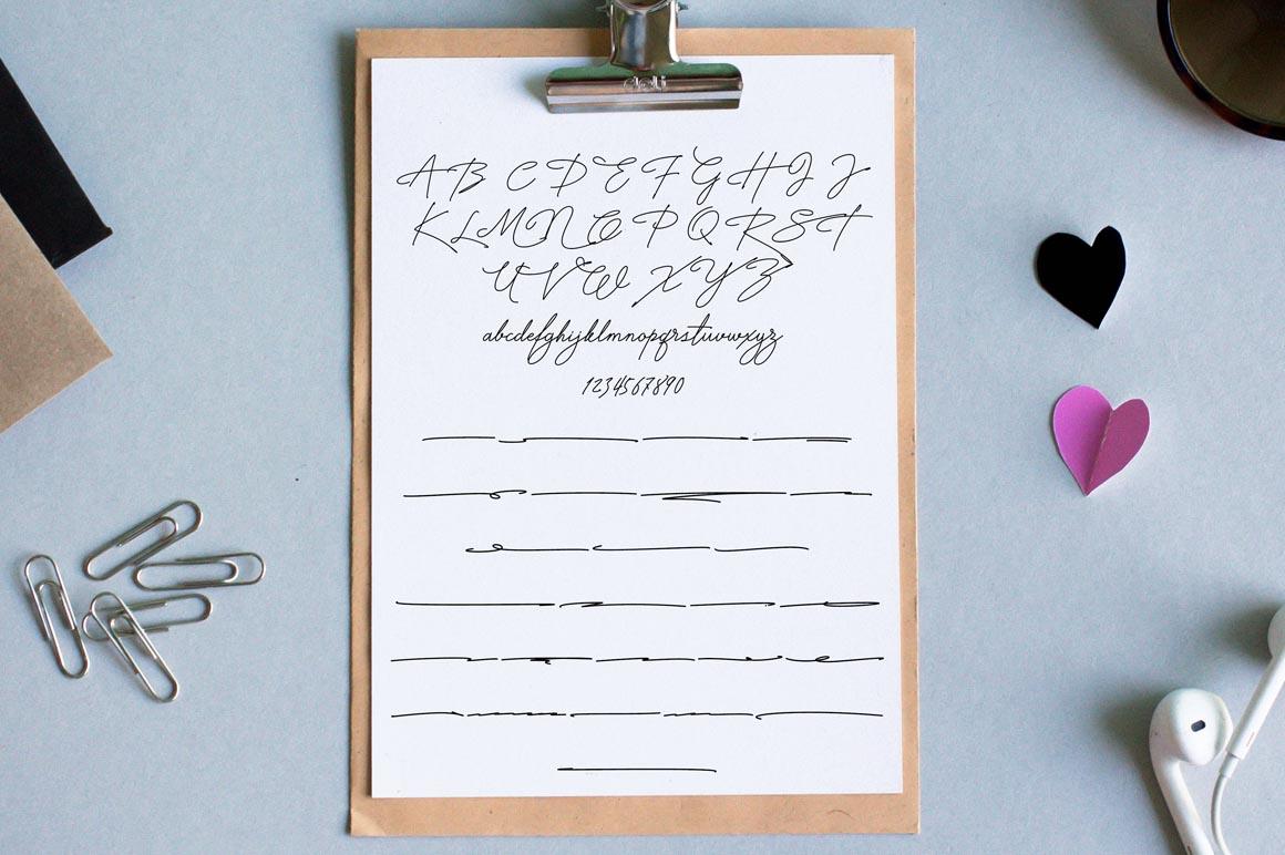 Signature TypeFace example image 4