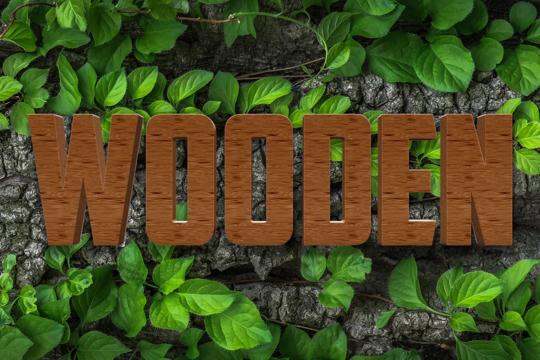 10 Wood Style for Photoshop example image 5