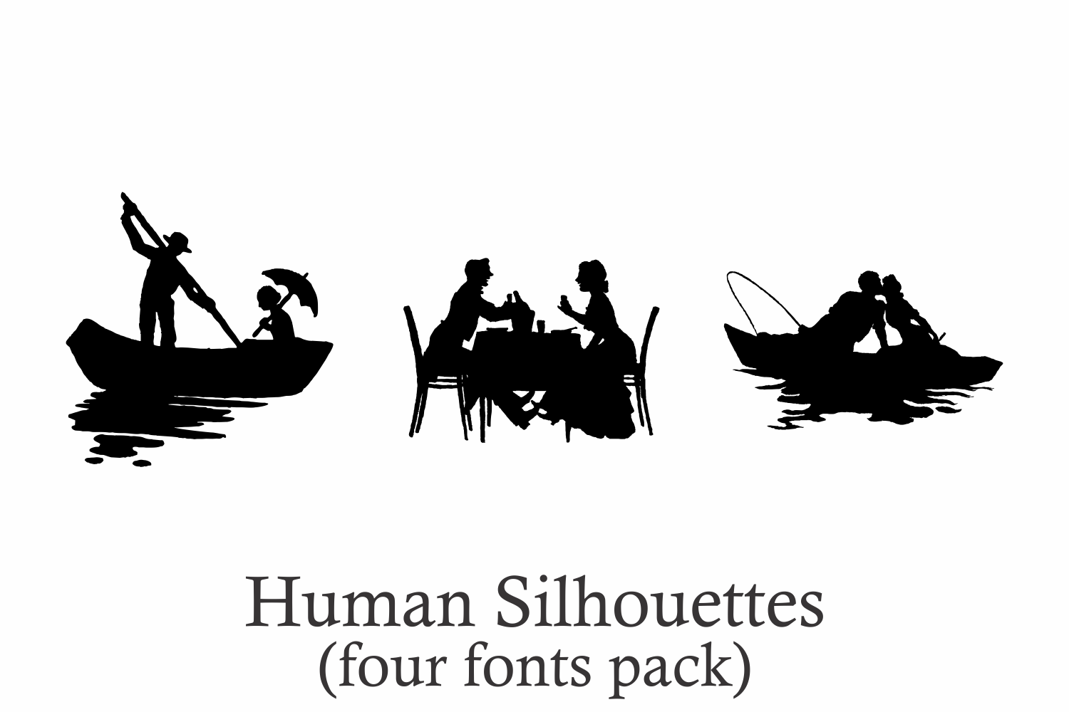 Human Silhouettes Pack - 4 Fonts example image 6