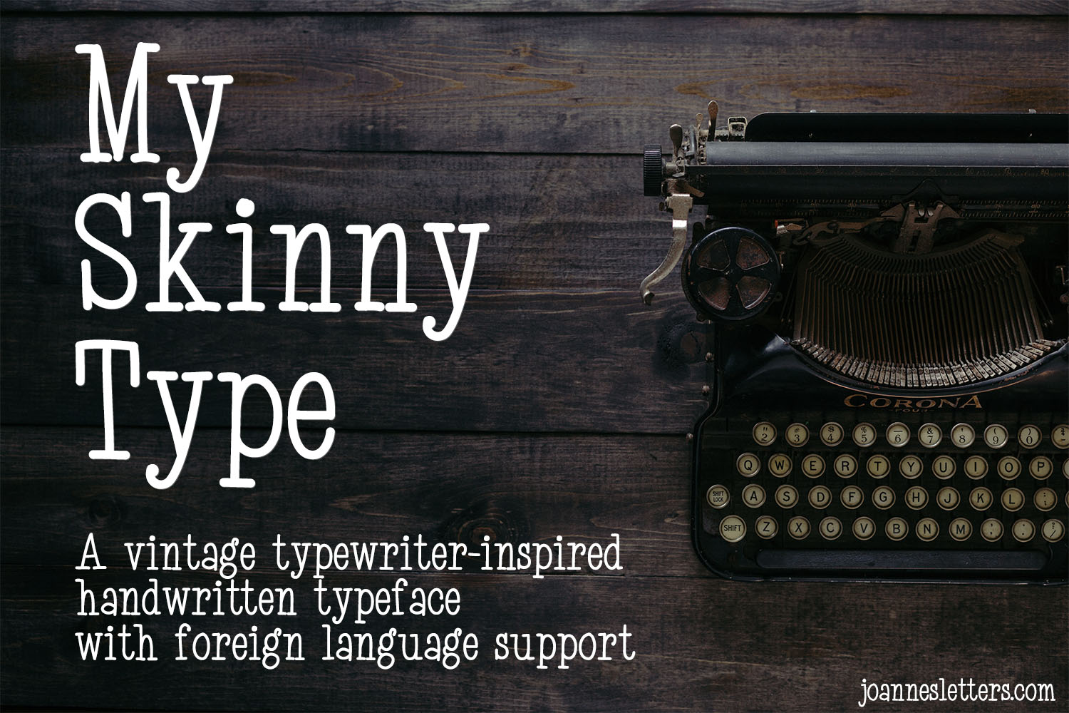 My Skinny Type | A vintage typewriter-inspired handwritten example image 1
