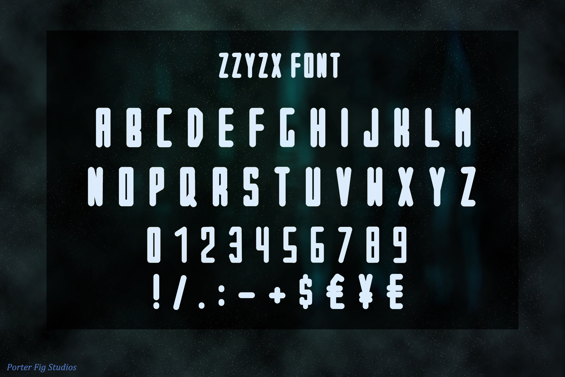 ZZYZX a futuristic Scifi Inspired Display Font example image 2