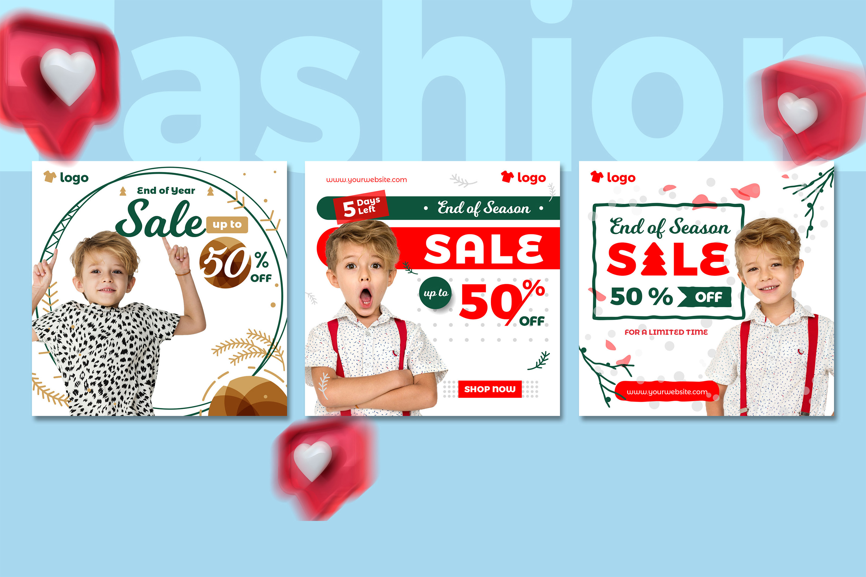 Kids Fashion Winter Sale Social Media Post template example image 4