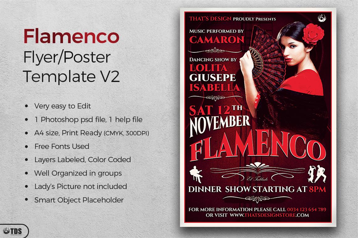 Flamenco Flyer Template V2 example image 2