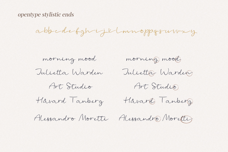 Michael - a casual handwritten script example image 4