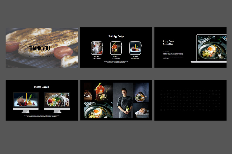 Core - Food Google Slides Dark example image 7