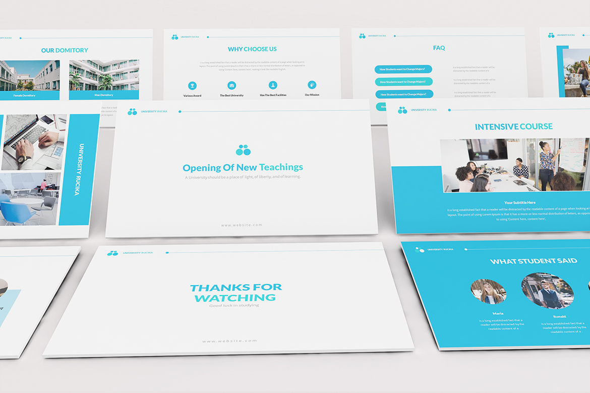 University Powerpoint Template example image 9