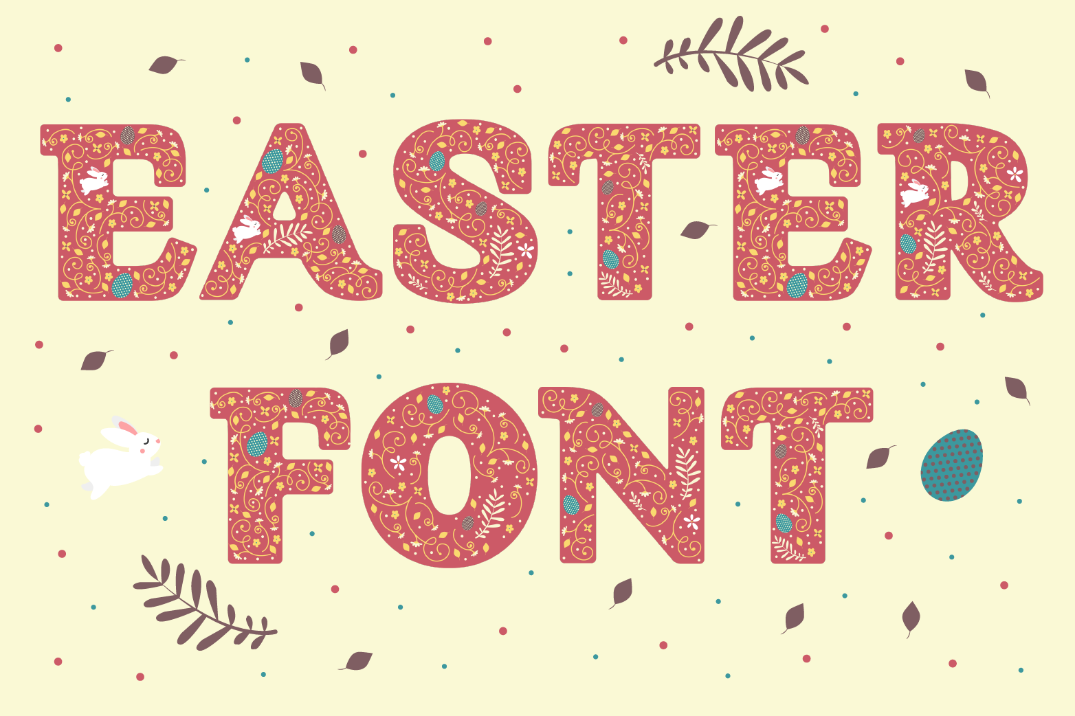Easter Font example image 1