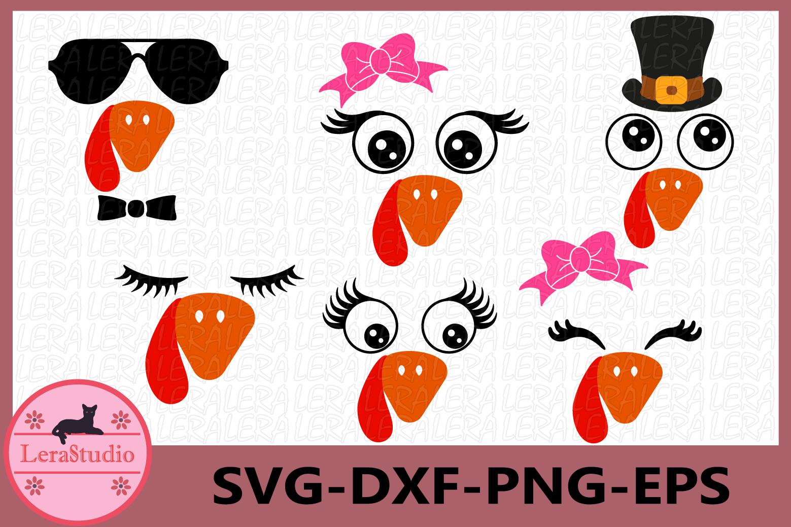 Turkey Face SVG, Turkey SVG, Turkey head svg, Eyes svg example image 1