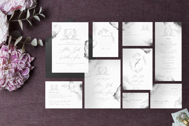 Modern Sketch - Wedding Set example image 8