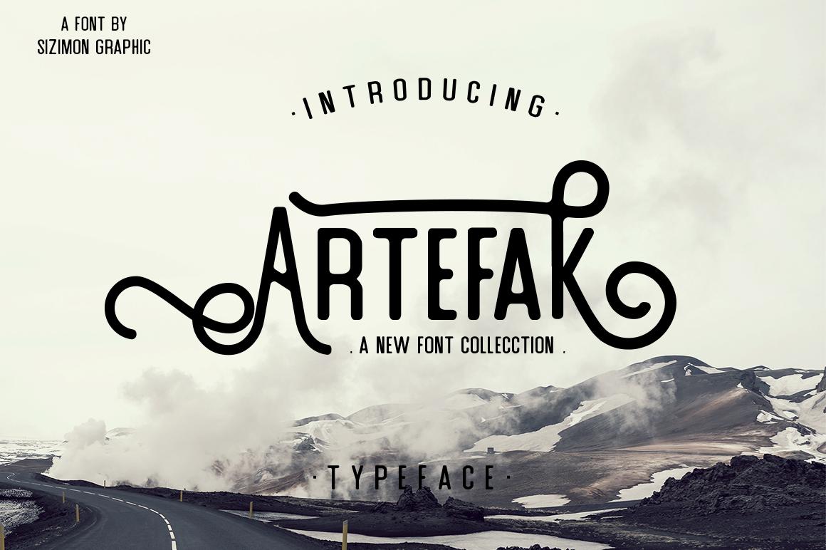 Artefak Typeface + Extras example image 2