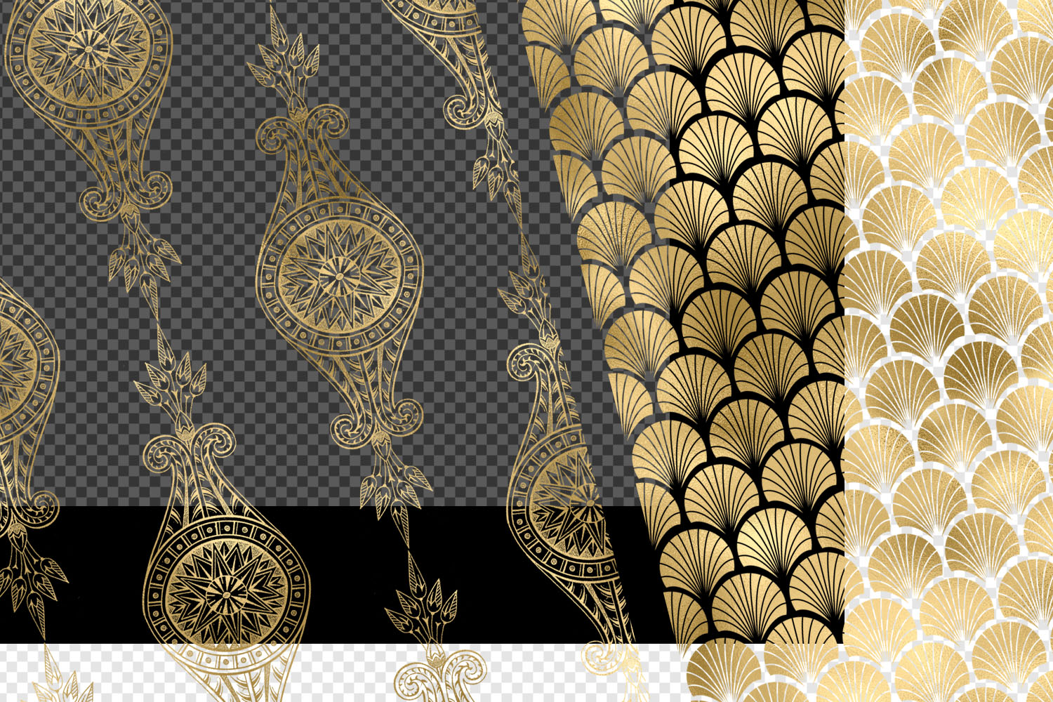 Gold Art Deco Pattern Overlays example image 4