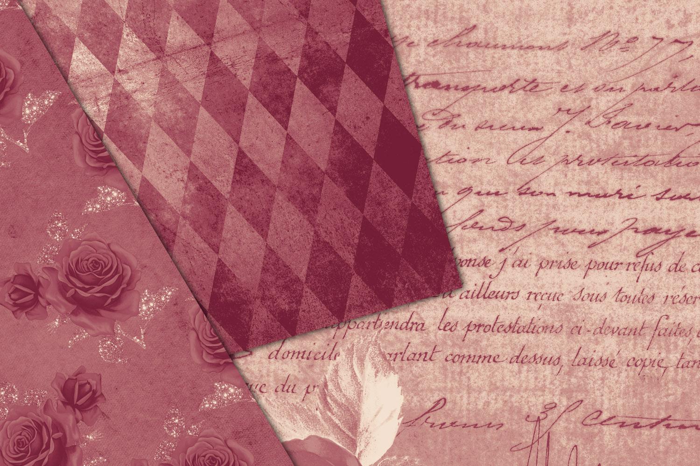 Warm October Textures - Vintage Digital Paper example image 4