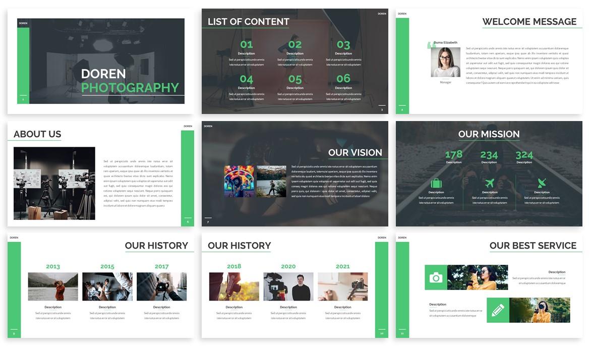 Doren - Photography Powerpoint Template example image 2