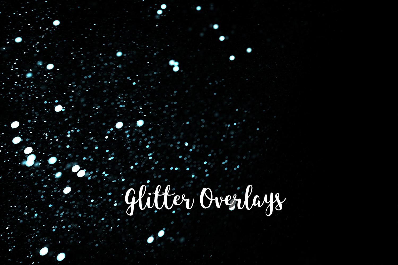 Glitter Dust Overlays, Glitter Bokeh Texture Overlays example image 2