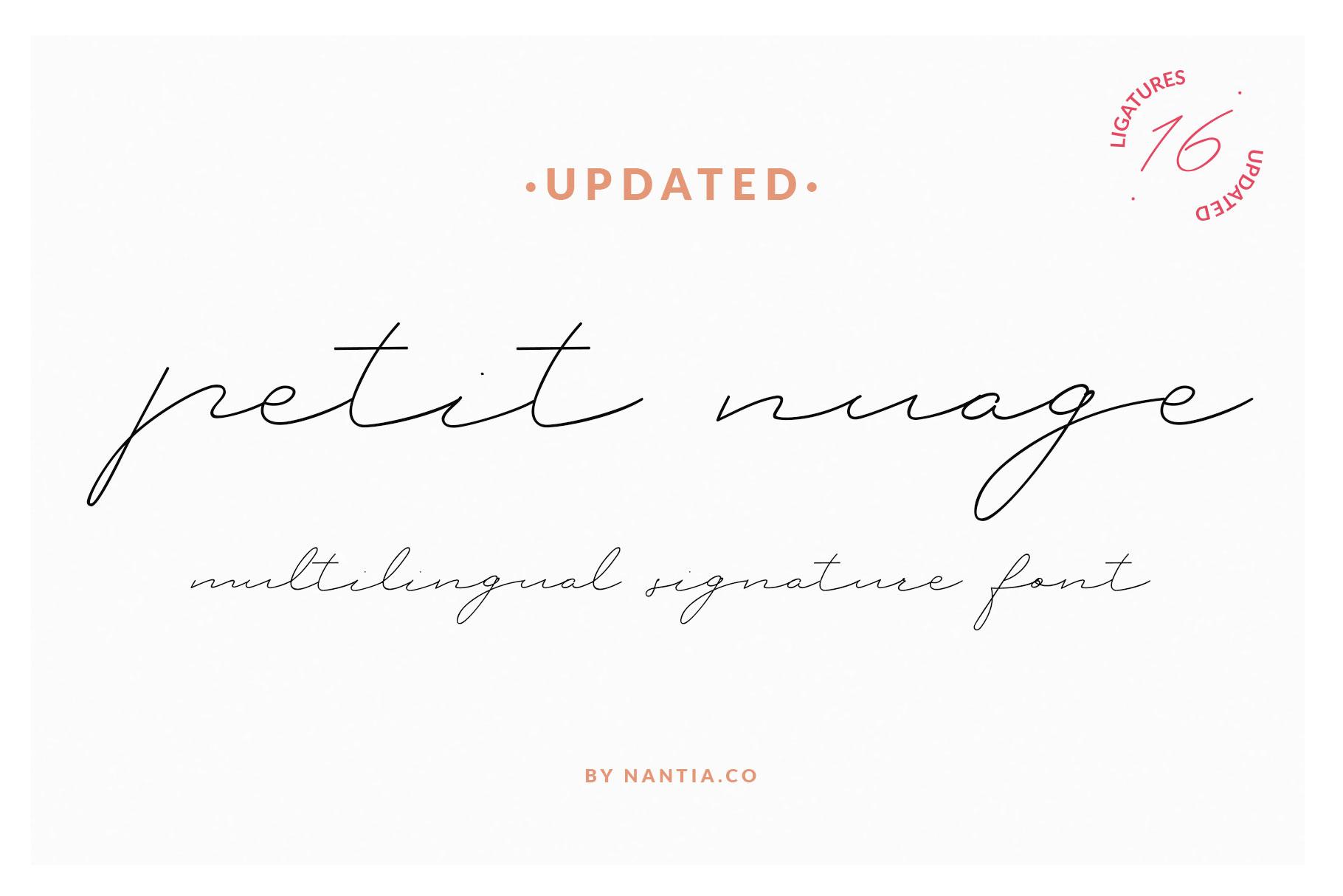 Petit Nuage Signature Font example image 1