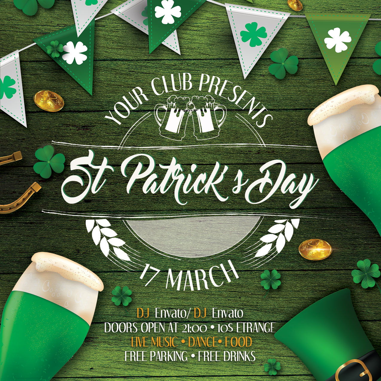 St. Patrick's Day Flyer And Poster example image 5
