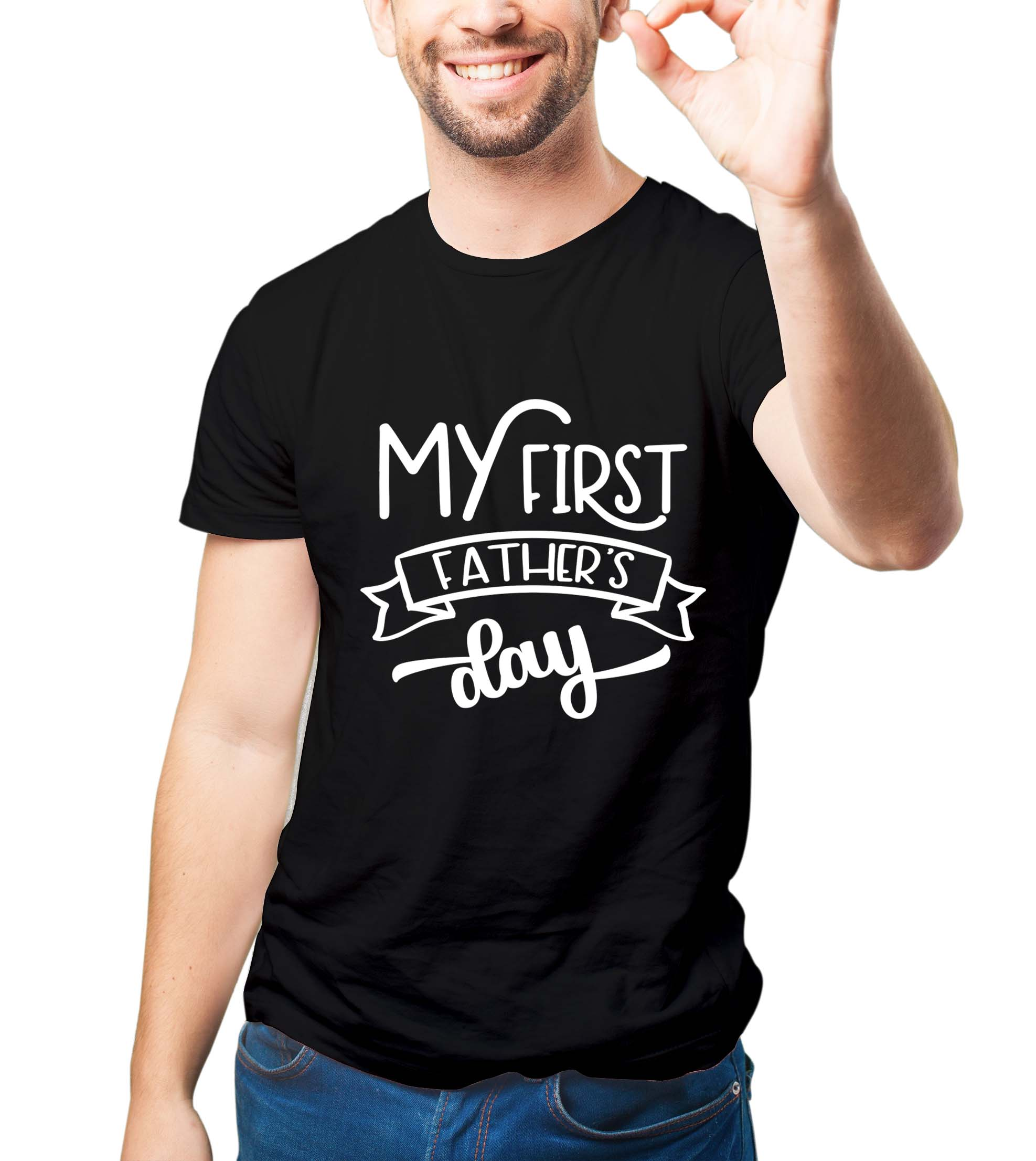 My first father's day SVG PNG EPS DXF, Father svg, Daddy svg file example image 4