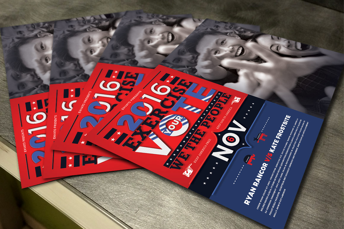 Political Flyer Mailer Photoshop Template 4 example image 4