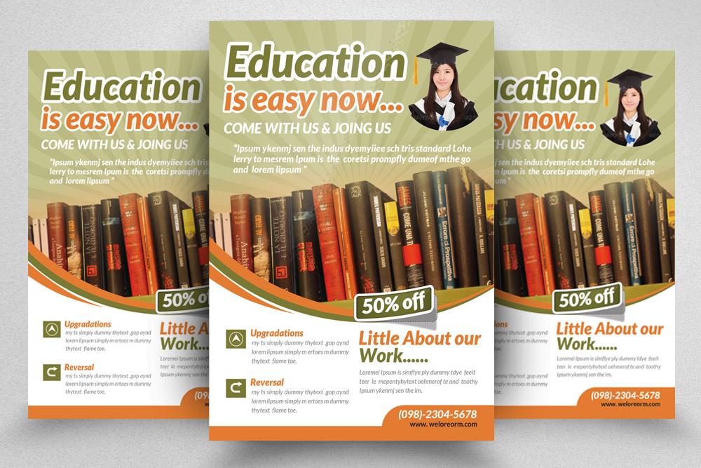 6 School Education Flyers Bundle example image 7
