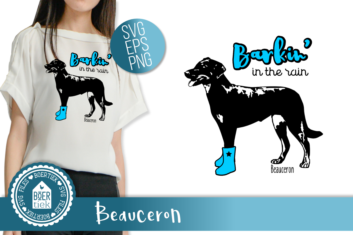 Beauceron, Barking in the rain example image 1