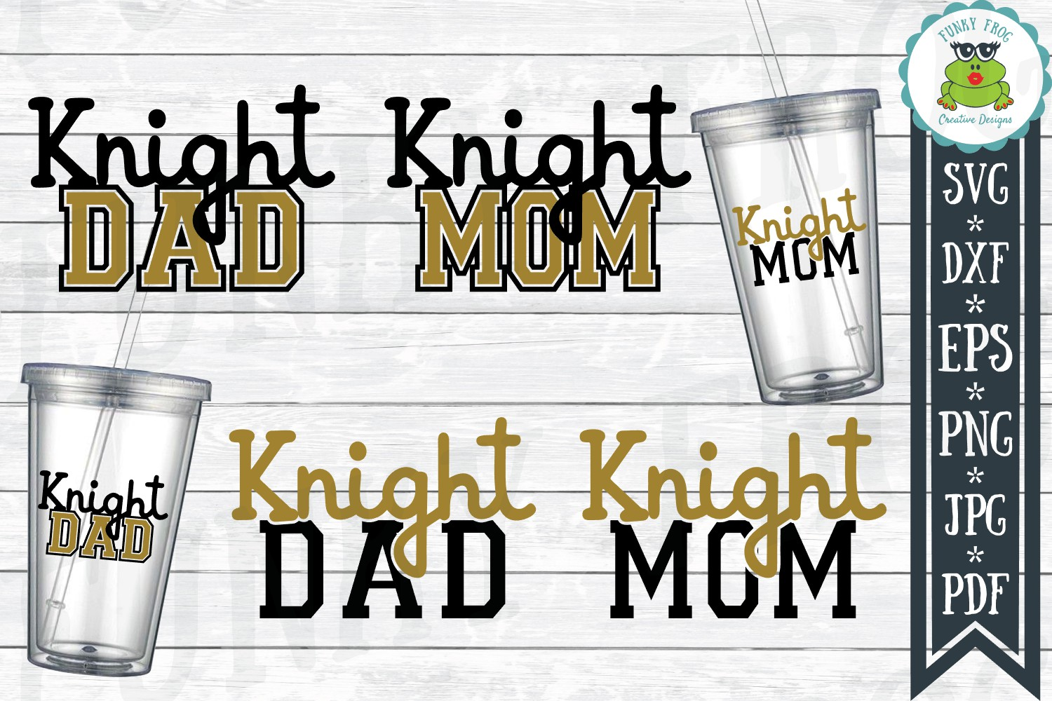 Knight Dad and Knight Mom SVG Cut File for Crafters example image 1