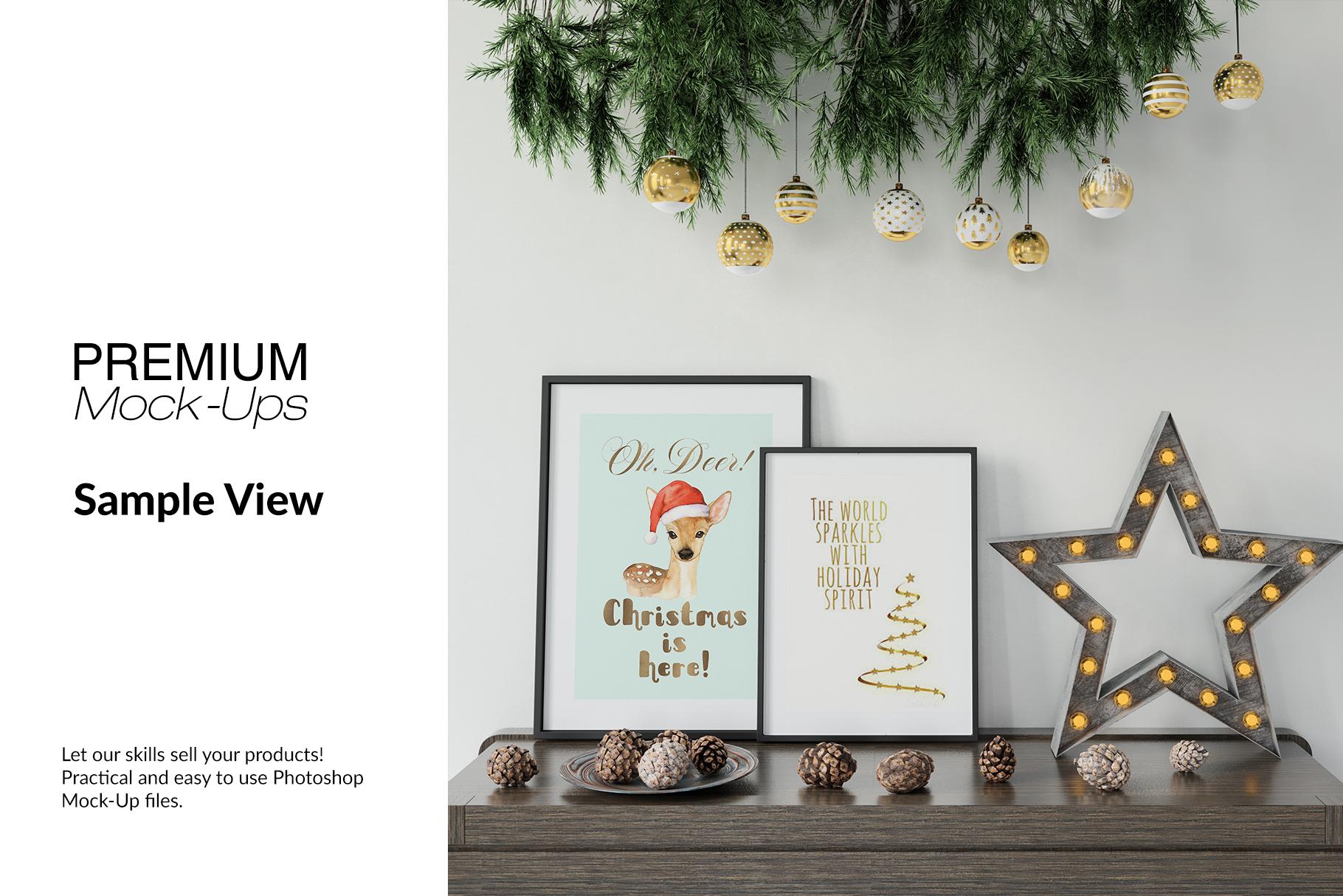 Christmas Frames & Wall Set example image 12