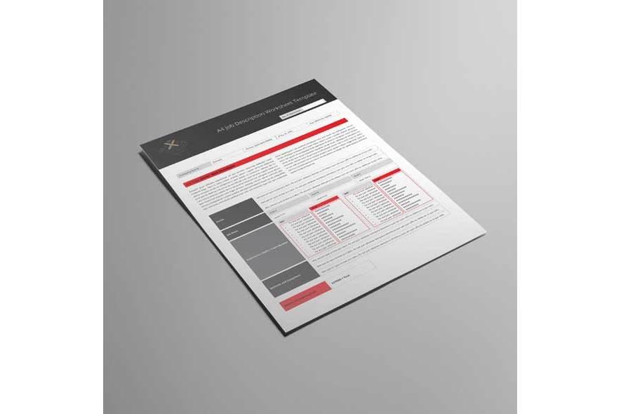 A4 Job Description Worksheet Template example image 4