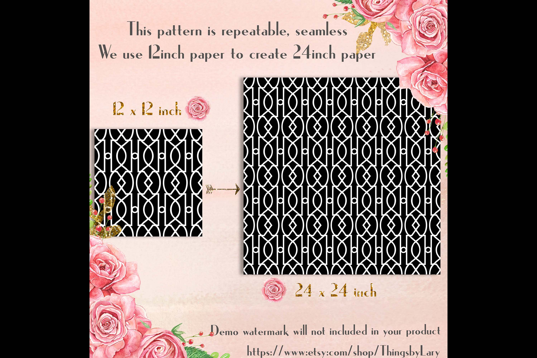 30 Seamless Black & White Basic Common Home Decor Patterns example image 10