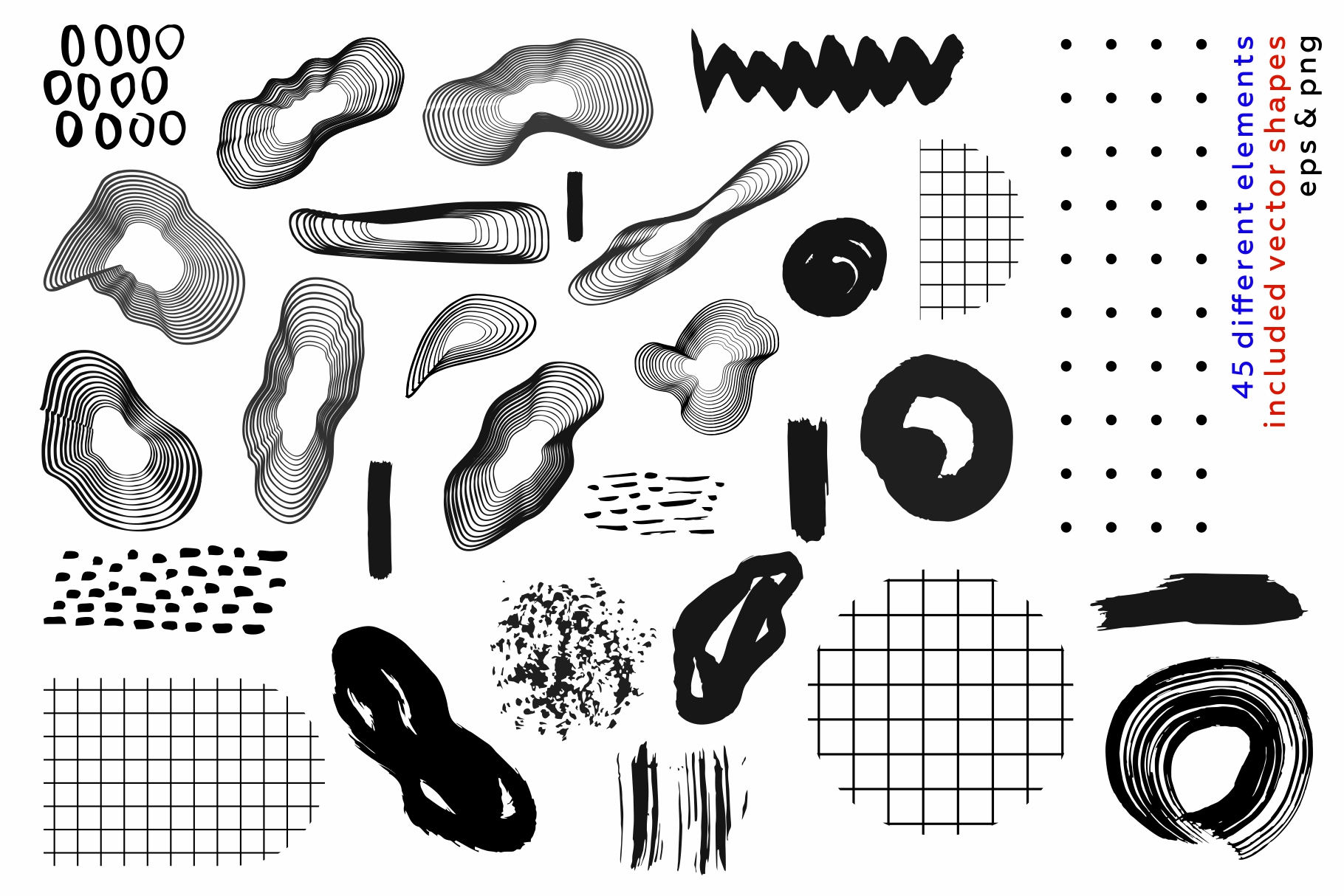 Collage me! Abstract and modern patterns and shapes set. example image 11